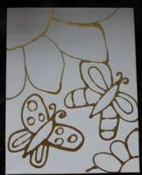 Butterfly Canvas ready to paint