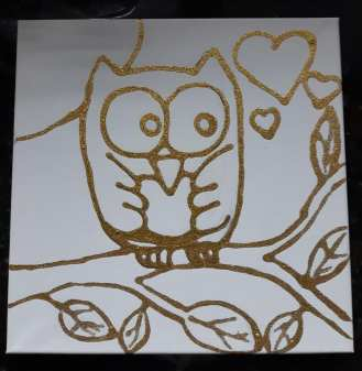 Cute Owl Pre Outlined Canvas to Order